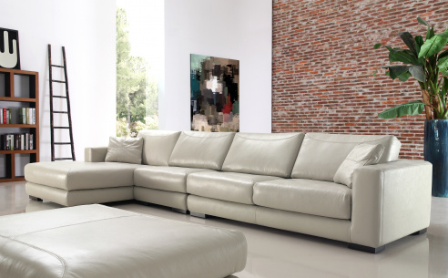 Lexus Leather Corner Sofa