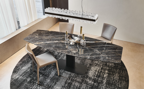Linus Drive Keramik Extending Dining Table