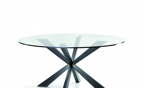 Spyder Glass Round Table