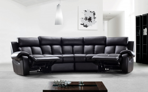 Emma Leather Recliner Sofa