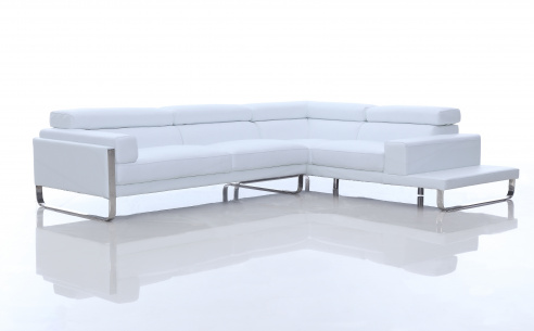 Juliett Modern Leather Corner Sofa