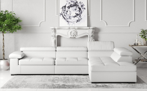 Anna Leather Corner Sofa
