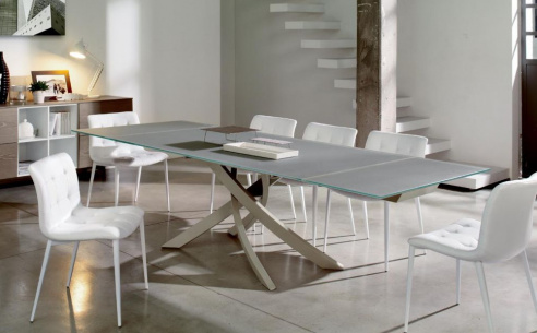 Artistico Extending Glass Dining Table