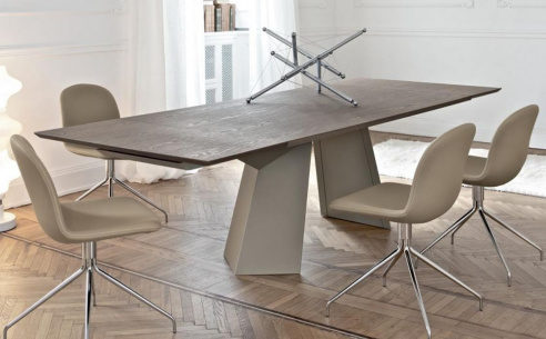 Fiandre Wood Extending Dining Table