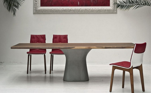 Podium Wood Dining Table