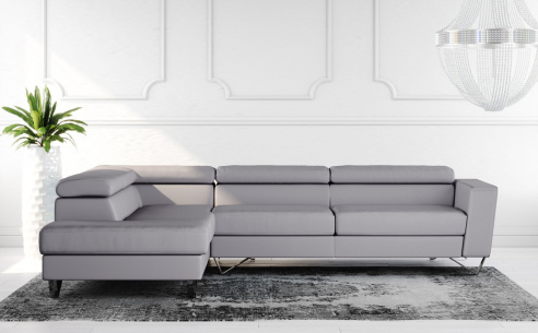 Brook Leather Corner Sofa