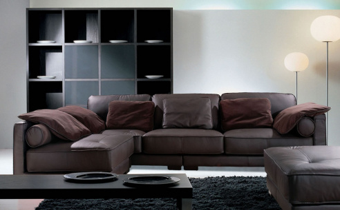 California Leather Corner Sofa