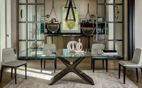 Canopy Glass Dining Table