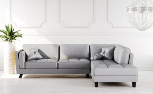 Cappuccino Leather Corner Sofa