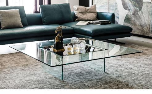 Carrè Glass Coffee Table - BRAND NEW