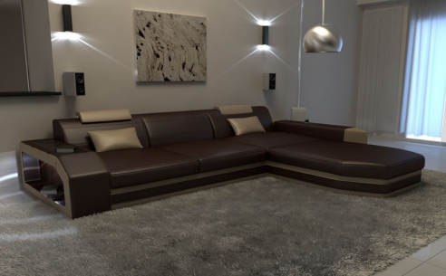 Concept Leather Corner Sofa