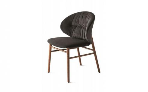 Drop Dining Chair - Wood Legs