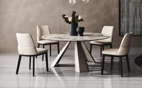 Edward Keramik Round Dining Table