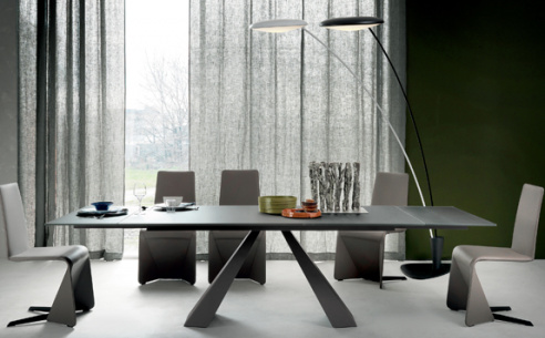 Edward Drive Glass Extending Dining Table