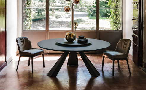 Edward Round Glass Dining Table
