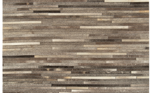 Gucho Dark Grey Stripe Rug