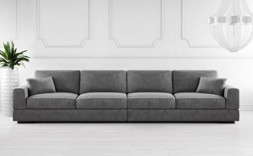 Gino 6 Seater  Fabric Sofa