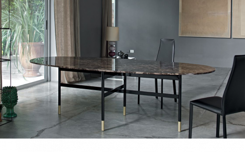 Glamour Oval Marble Dining Table