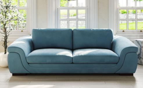 2x Kappo 3 Seater Sofas (Chocolate Velvet Fabric) - EX DISPLAY