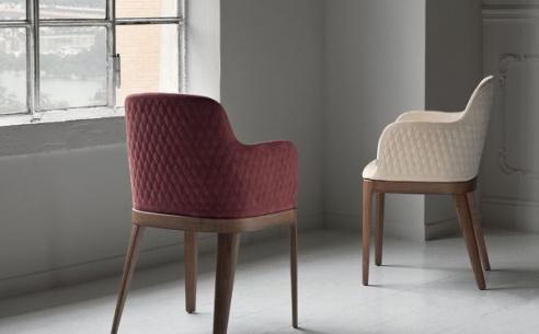 Margot  Carver Chair - Wood Legs