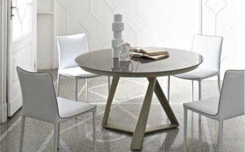 Millennium Glass Round Extendable Table