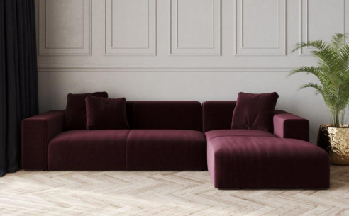 Nemo Low Fabric Corner Sofa