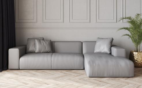Nemo Low Leather Corner Sofa