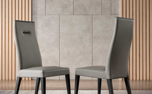 Nova Grey Leather Dining Chair