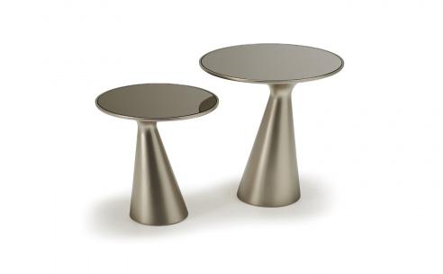 Peyote Titanium Side Table Glass
