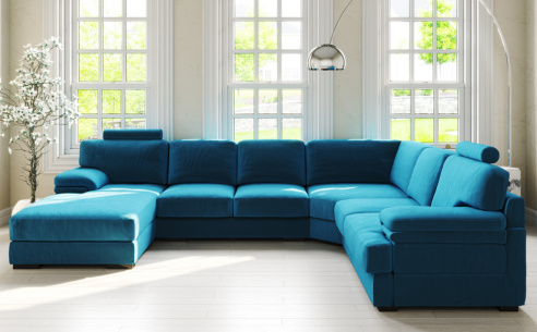 Piero Large Fabric Corner Sofa
