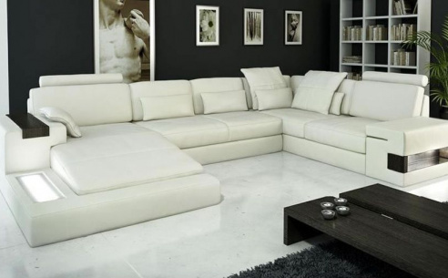 Rome Large Leather Corner Sofa