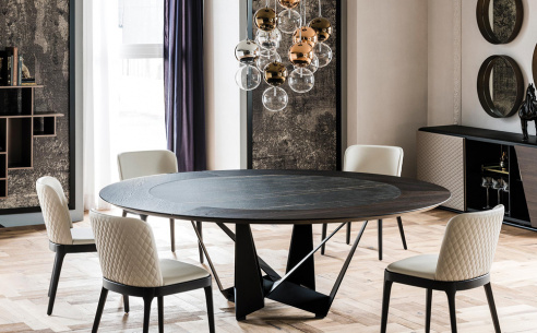 Skorpio Ker-Wood Round Dining Table