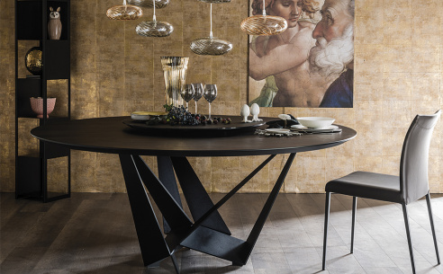 Skorpio Wood Round Dining Table