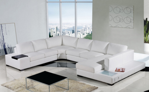 Spectrum Large Leather Corner Sofa