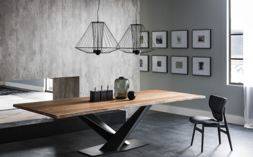 Stratos Wood Dining Table - Version S