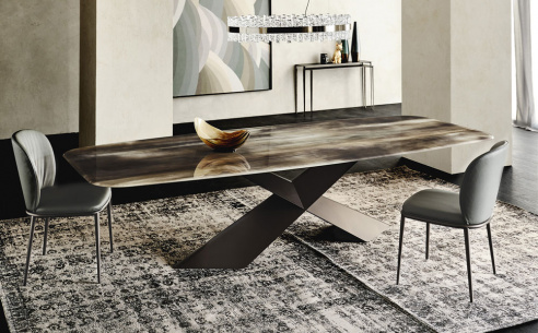 Tyron Crystalart Dining Table
