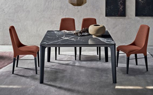 Versus Square Marble Dining Table