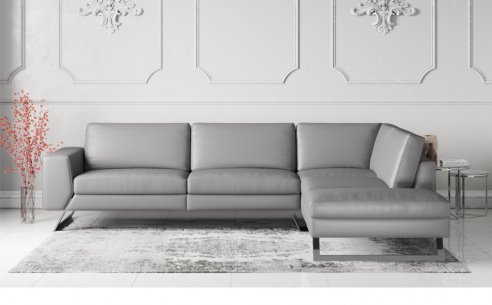 Vivid Leather Corner Sofa