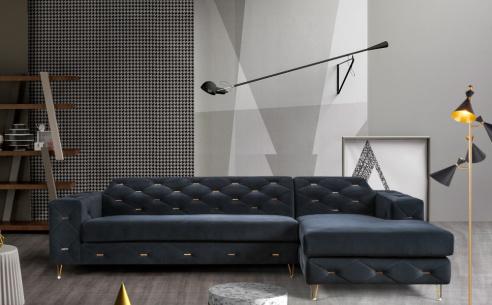 Zinc Fabric Corner Sofa