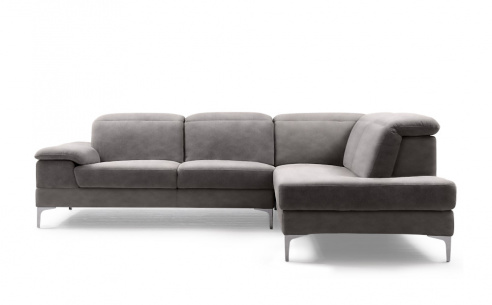 Zip Fabric Corner Sofa
