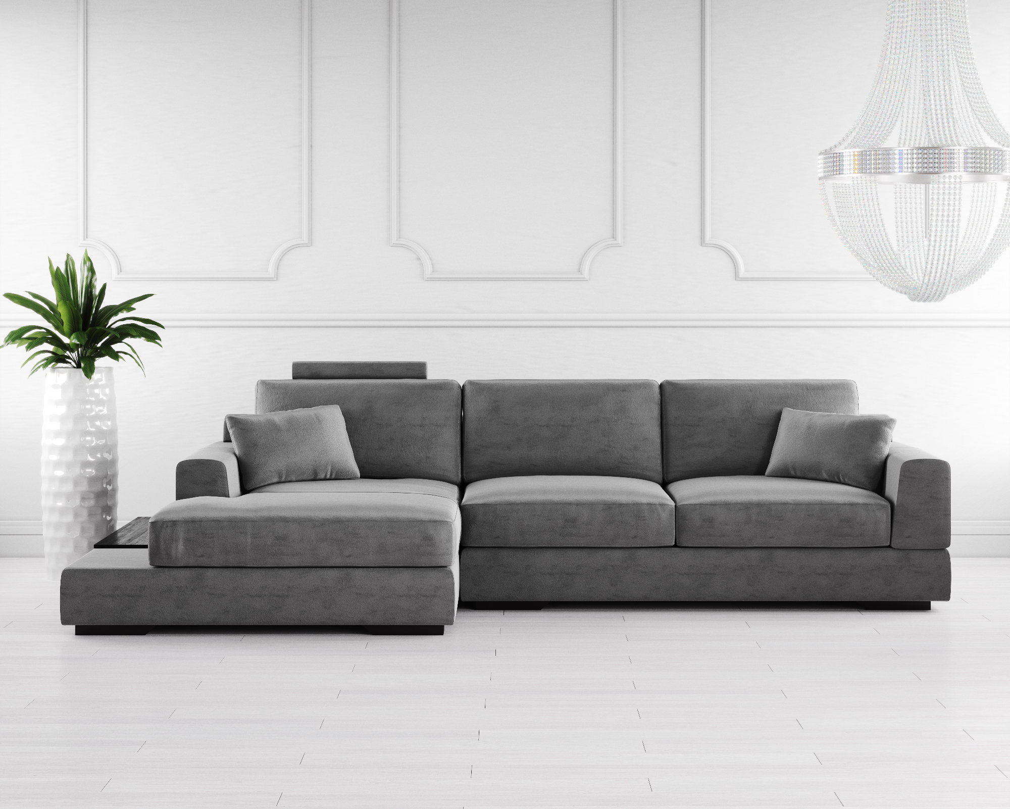 Buy Gino Fabric Corner Sofa Online In London Uk Denelli