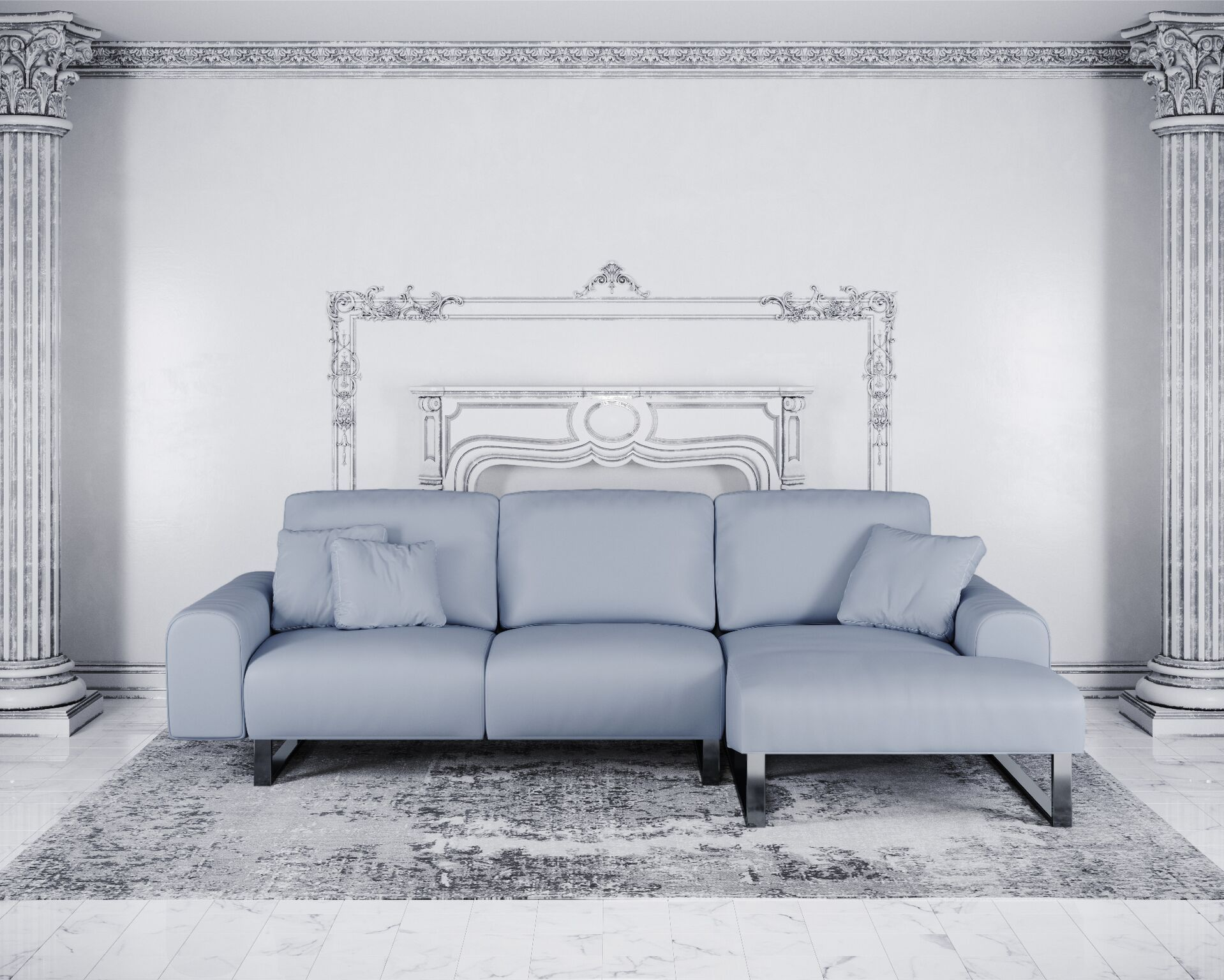 Buy Reflex Leather Corner Sofa Online London