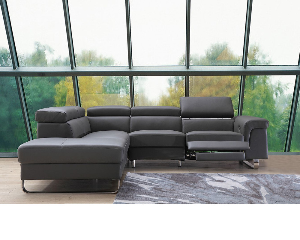 Buy Salone Leather Recliner Corner Sofa Online In London