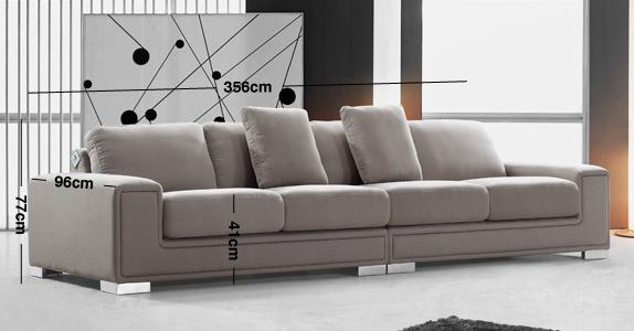 Lupo 5 Seater Sofa Modern Leather Sofa Denelli Italia