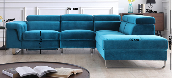 Salone Fabric Corner Sofa